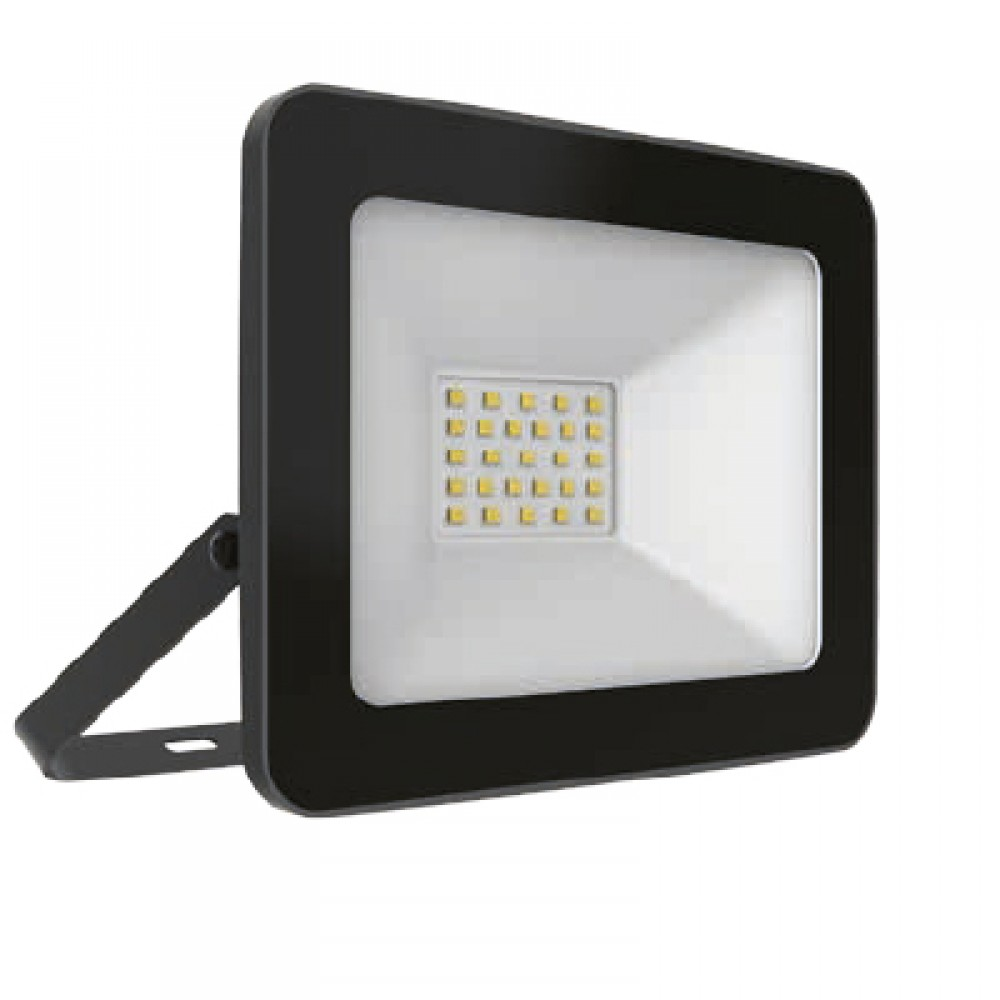 REFECTOR LED INTEGRADO / 30W / IP 65 / 3000K / NEGRO